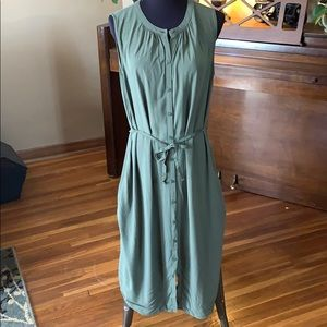 Old Navy Button Sleeveless Midi Dress L